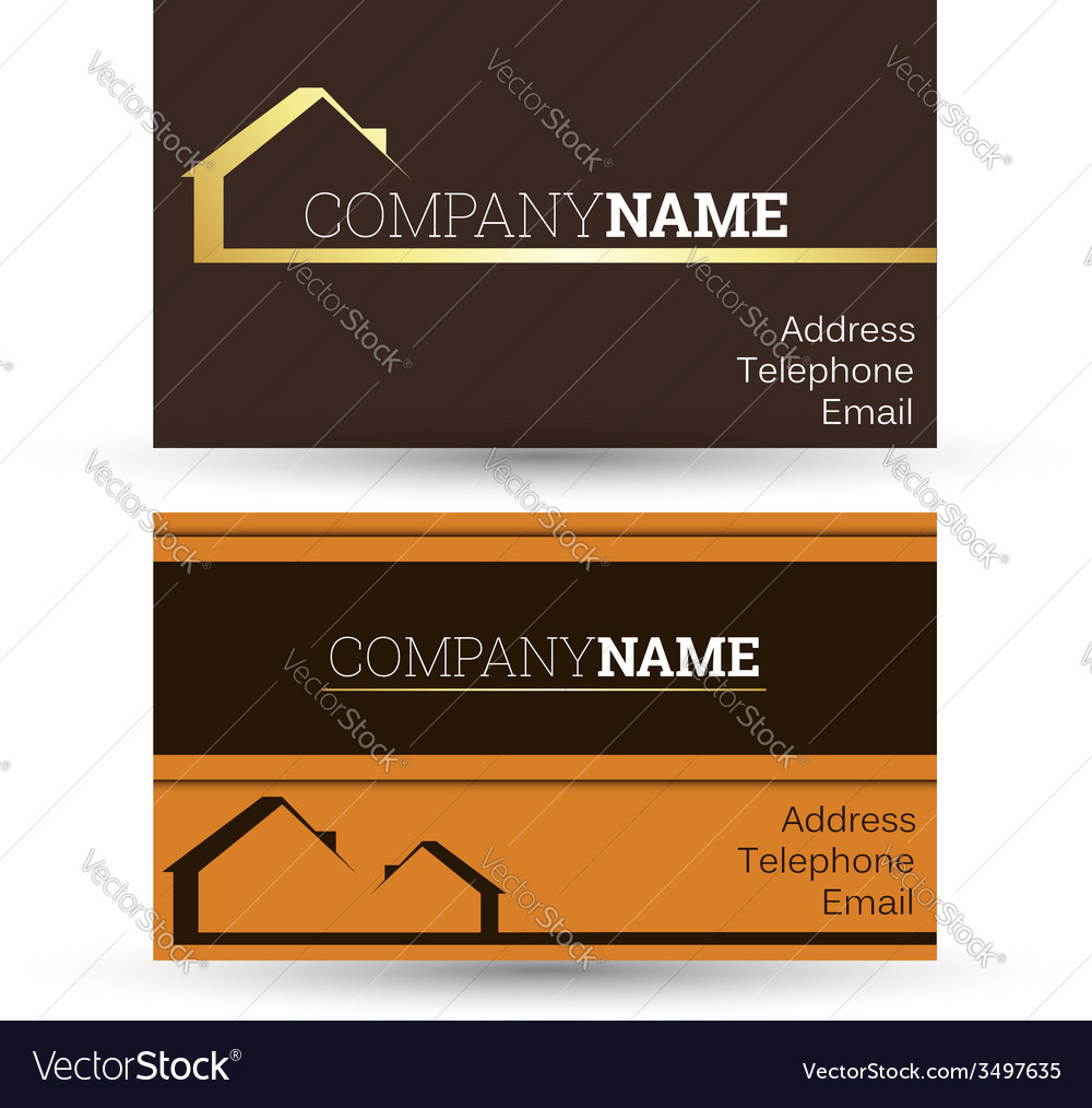 Business card real estate sales