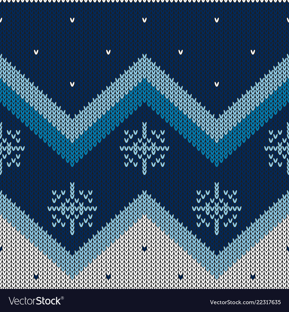 Christmas abstract knitted pattern christmas