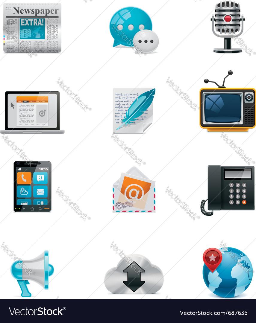 Communication and social media icon set 1