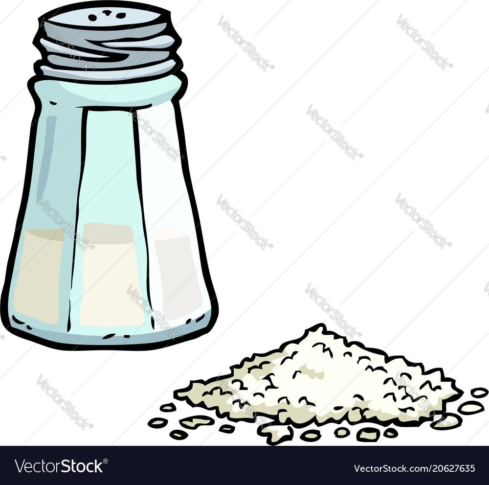 Doodle salt shaker vector image