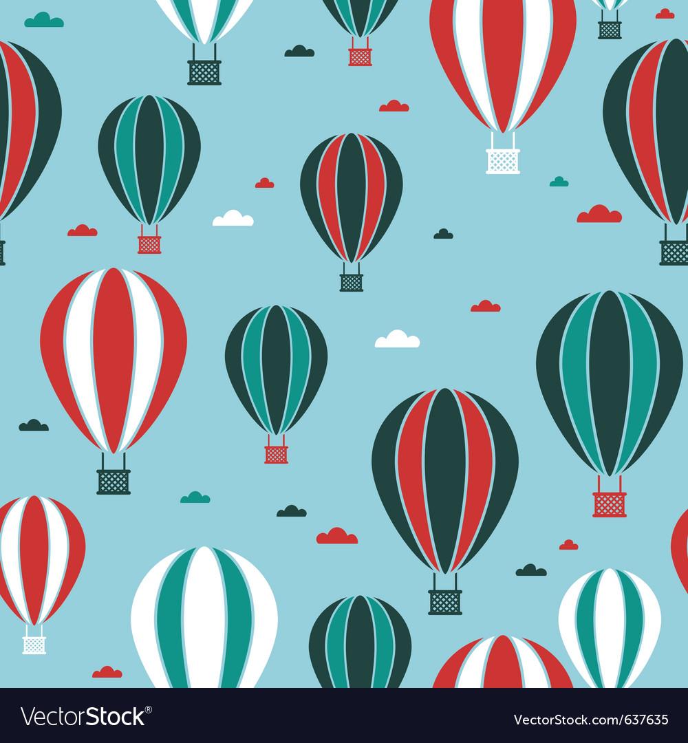 Hot air balloon pattern vector image