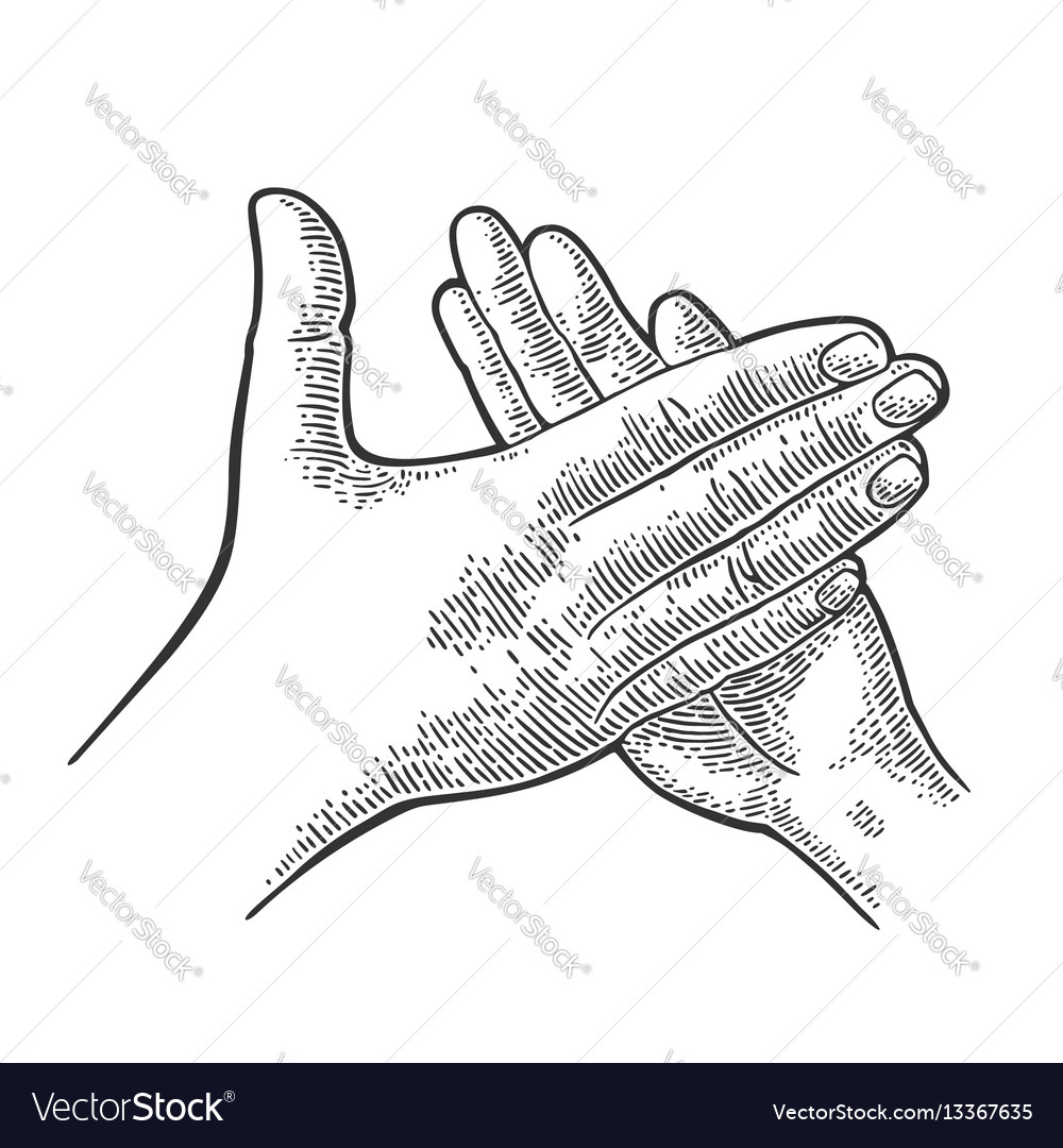 Man clapping hands applause sign vector image