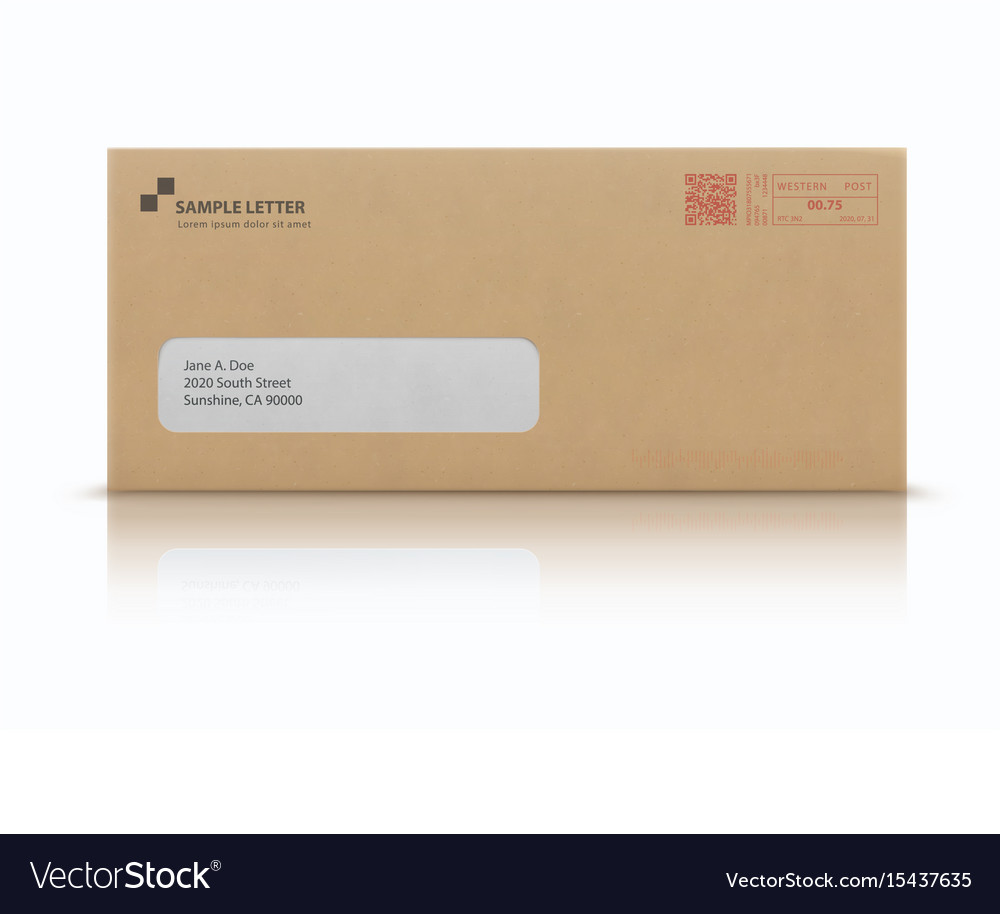 Mockup post envelope vector image