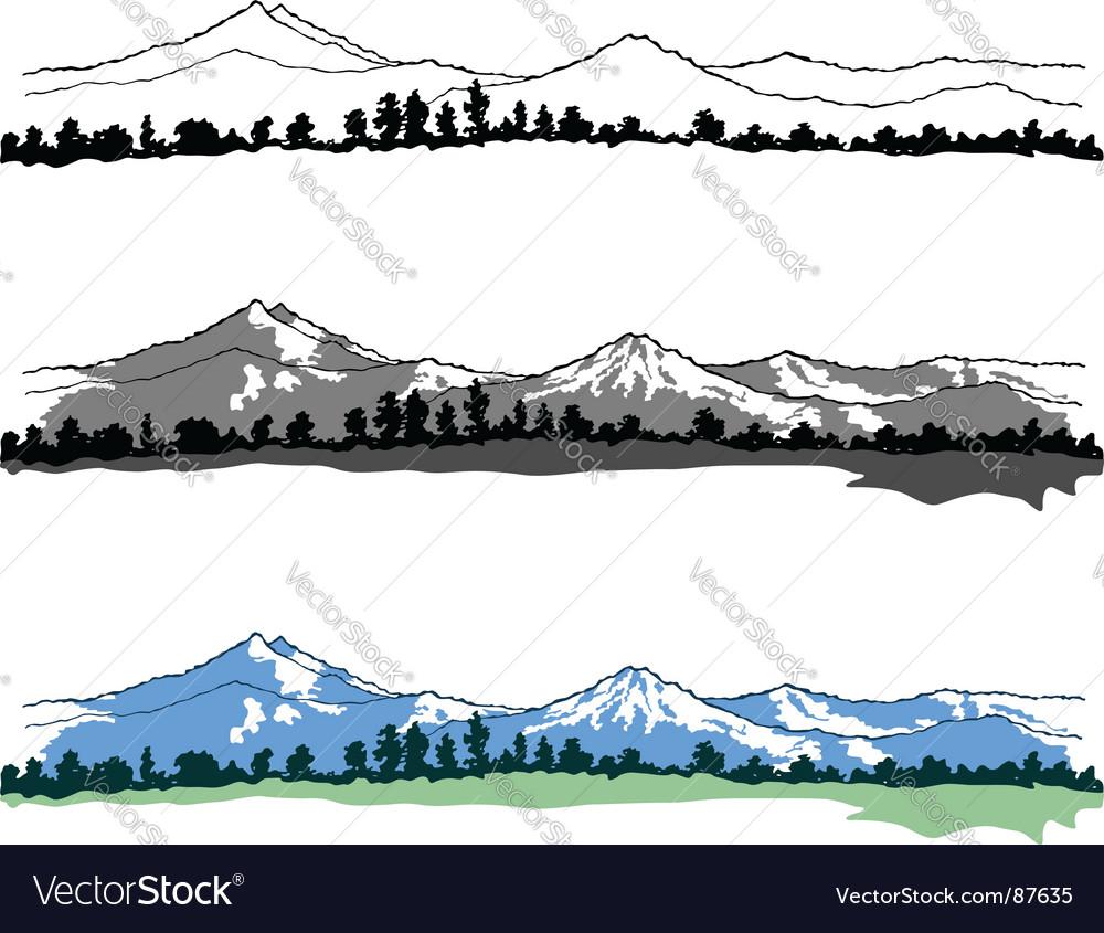 Mountains landscape vector image