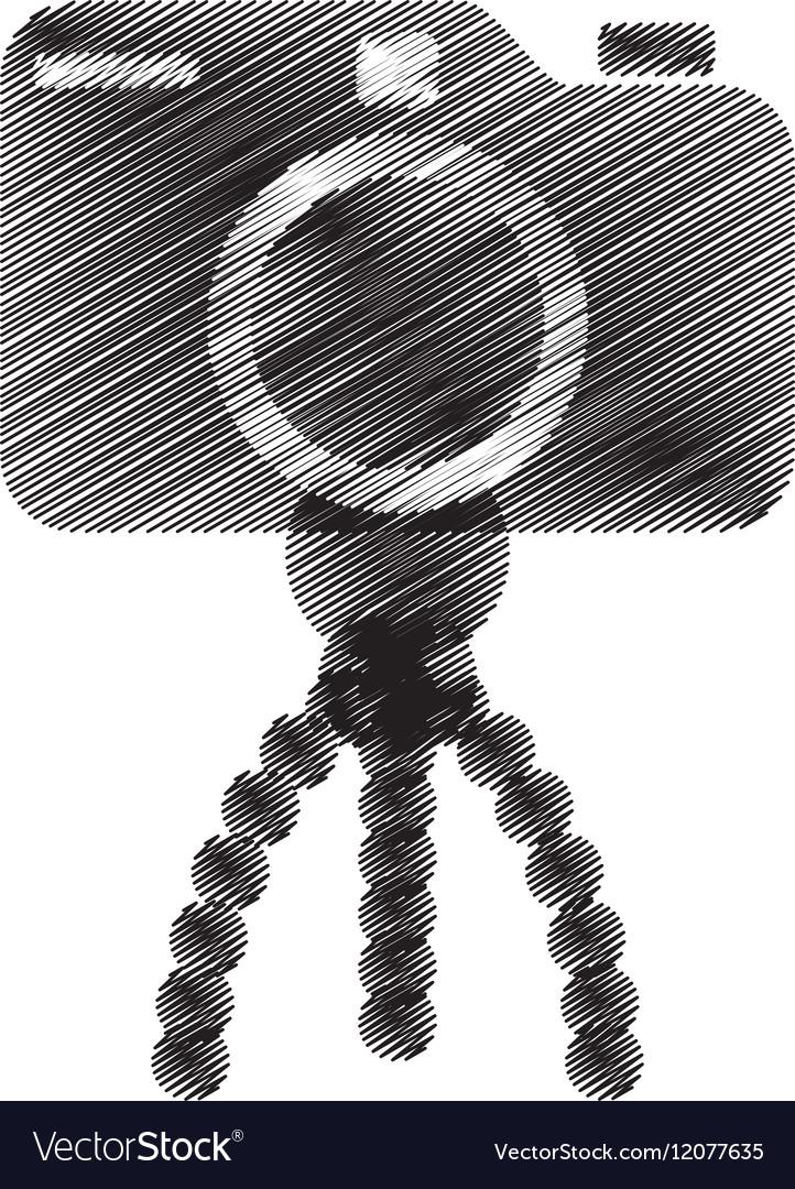 Photo camera pictures tripod icon vector image