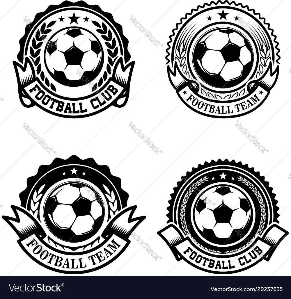 Set of soccer football emblems design element for