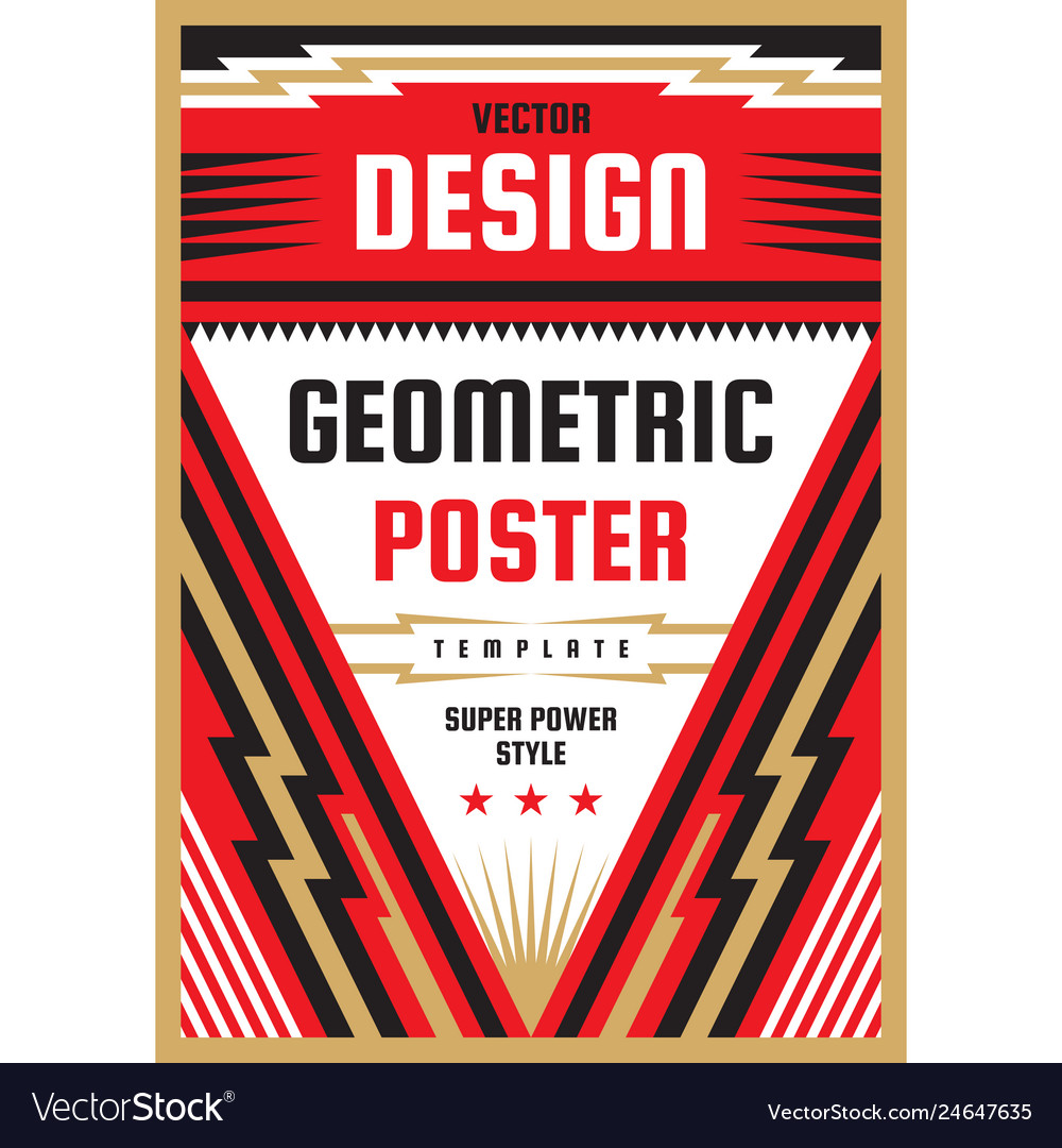 Vertical art poster template in heavy power style