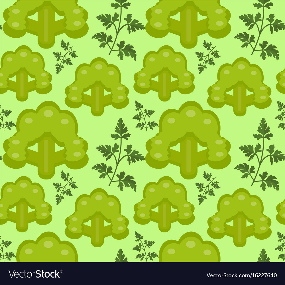Broccoli seamless pattern healthy food endless