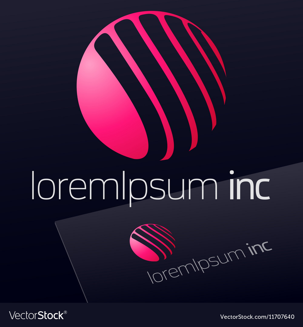 Logo for Fashion and Cosmetics on dark background