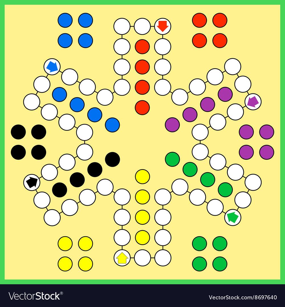 Ludo board game vector image