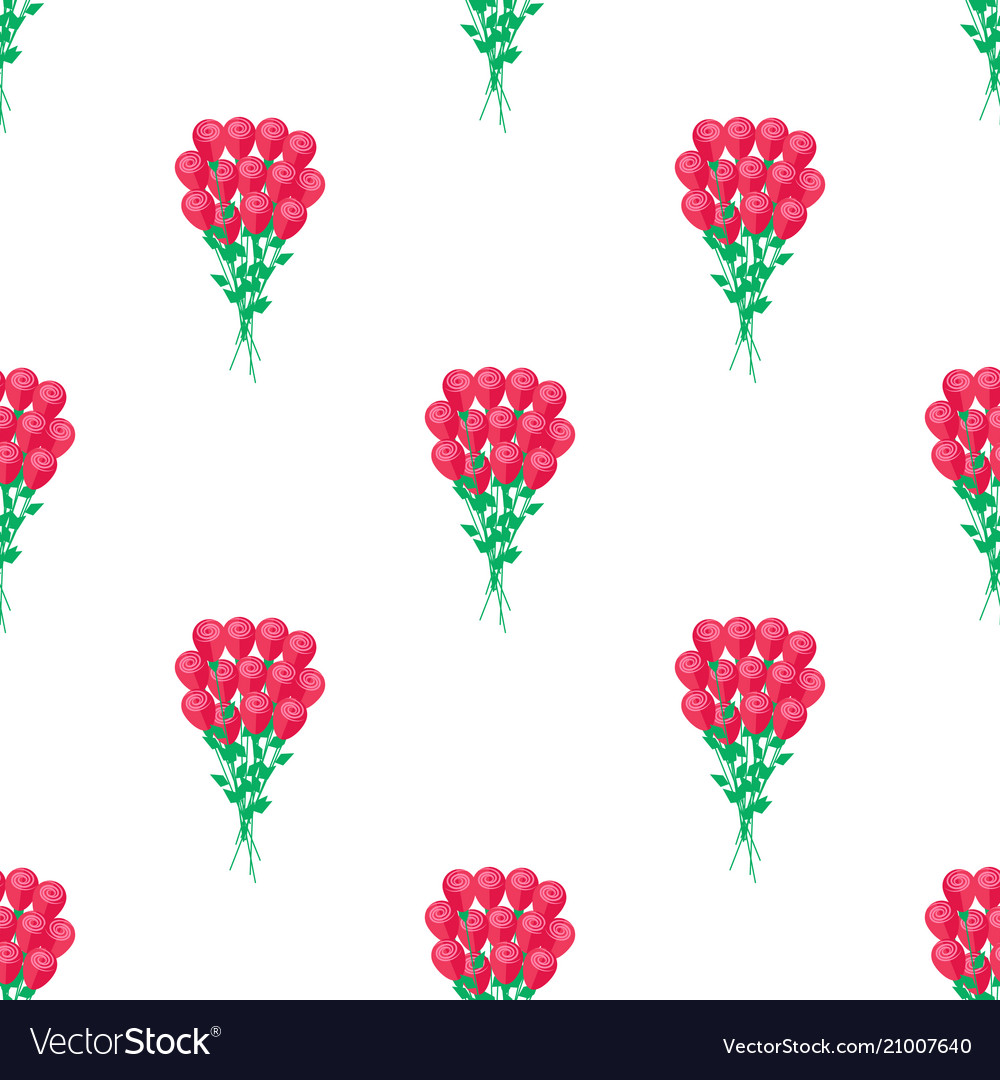 Seamless pattern with luxury bouquet roses