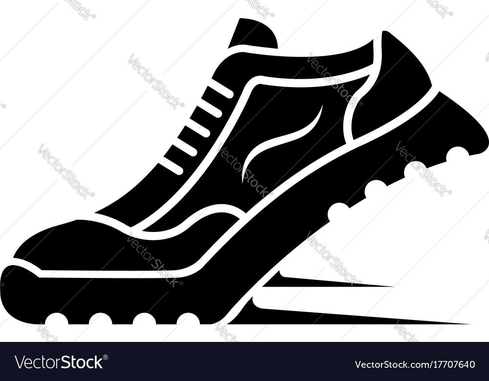 Sport shoe icon vector image