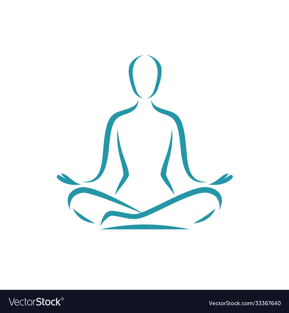 Yoga logo meditation spa beauty symbol