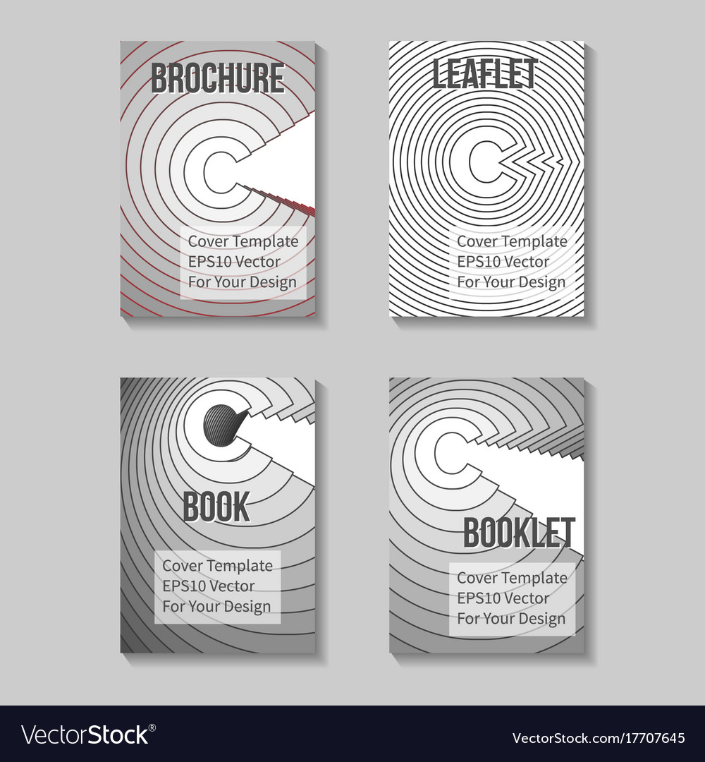 Book title page template business report cover vector image flashek Choice Image