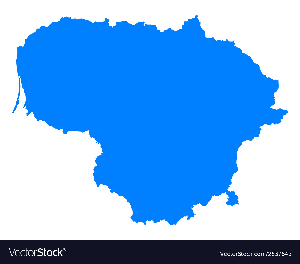 Map of lithuania royalty free vector image vectorstock map of lithuania vector image gumiabroncs Gallery
