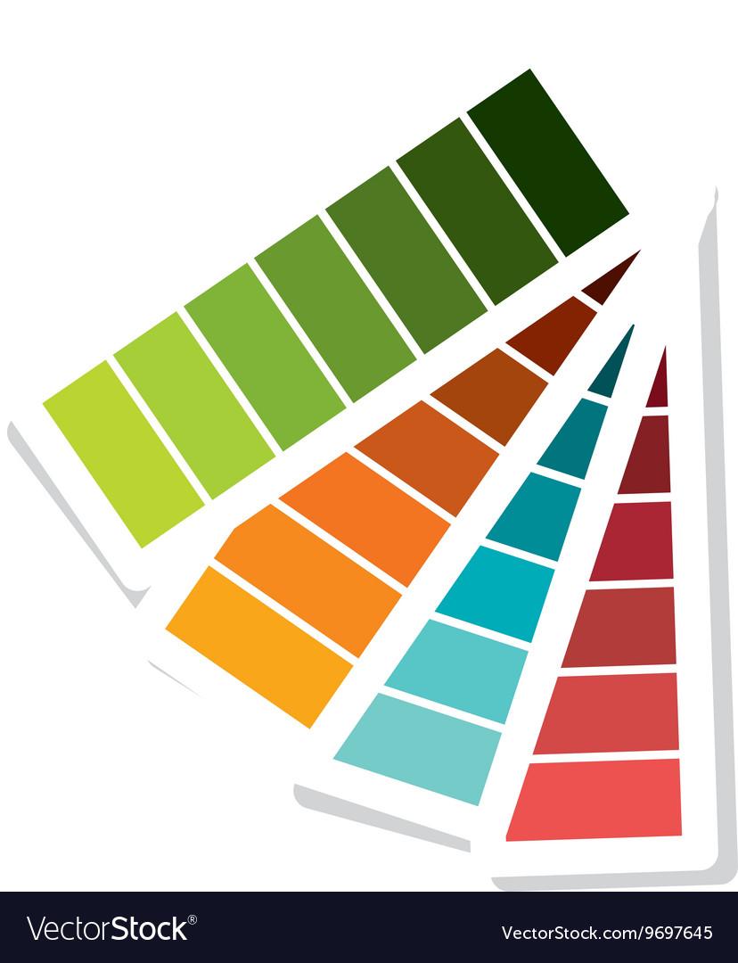Pantone colors isolated flat design