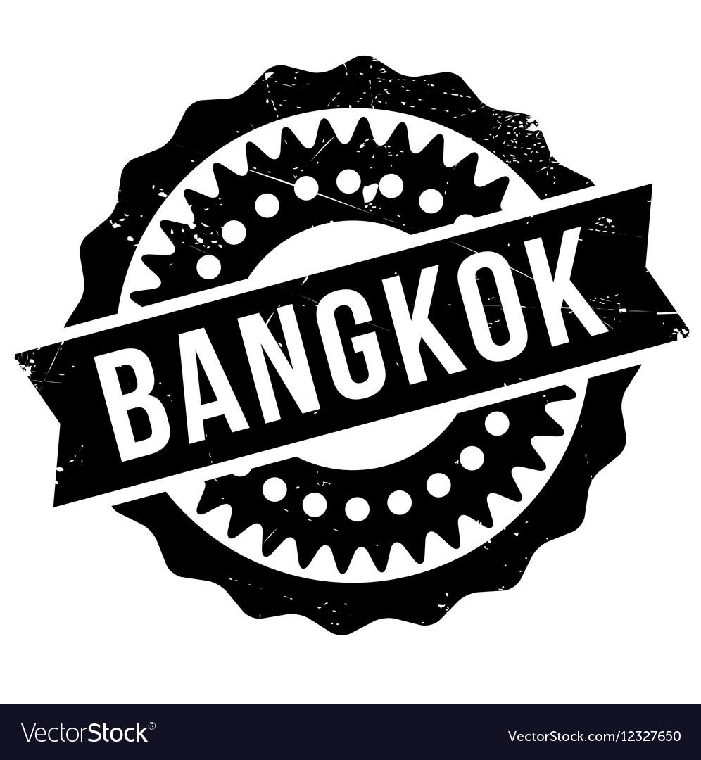 Bangkok stamp rubber grunge