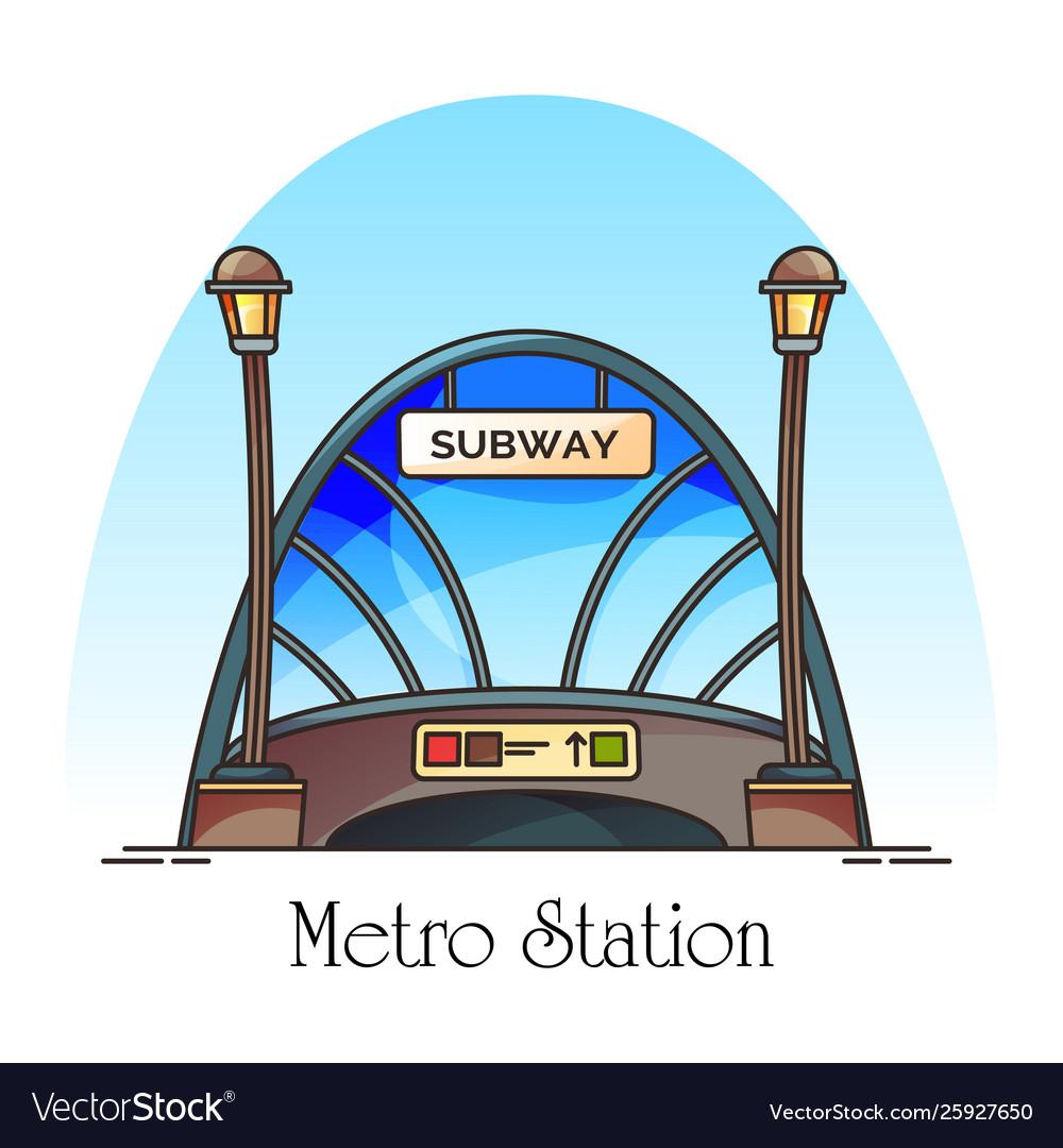 Glassware building metro station train railway