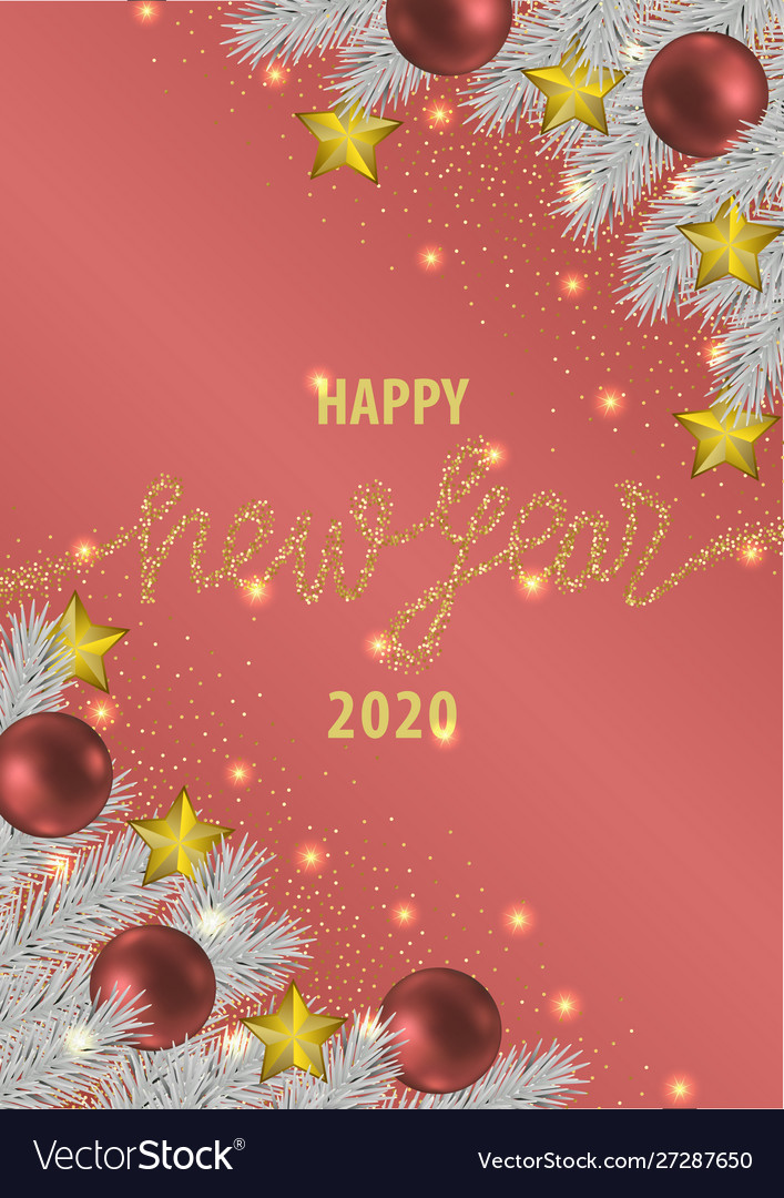 Happy New Year 2020 Pink Greeting Card