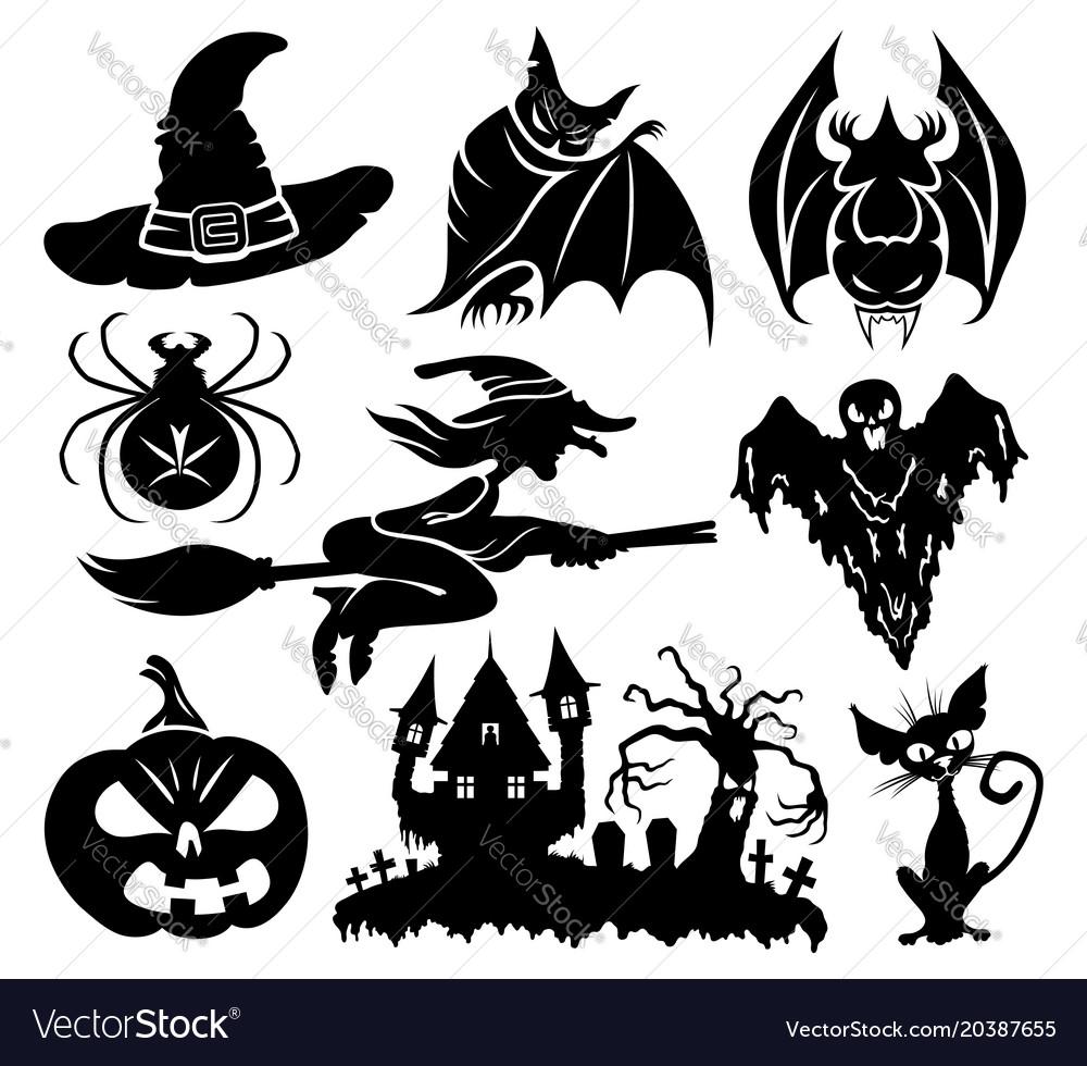 A set of halloween elements