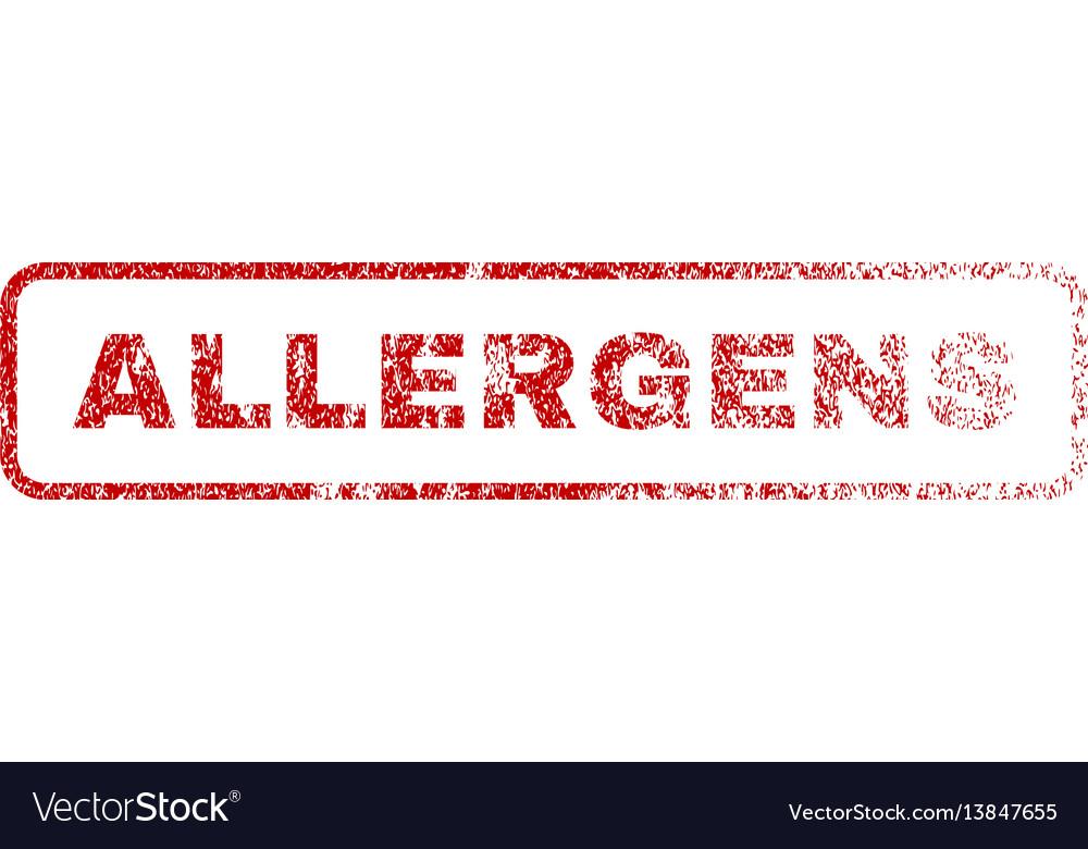 Allergens rubber stamp