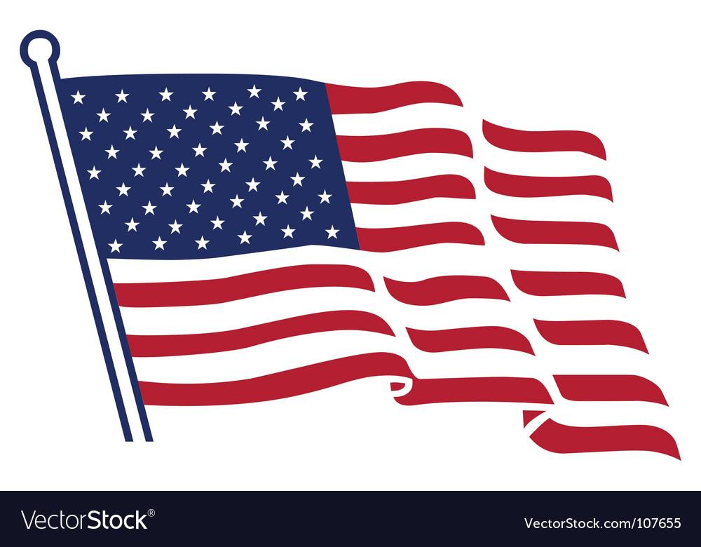 american flag royalty free vector image vectorstock rh vectorstock com vector american flag wave vector american flag waving