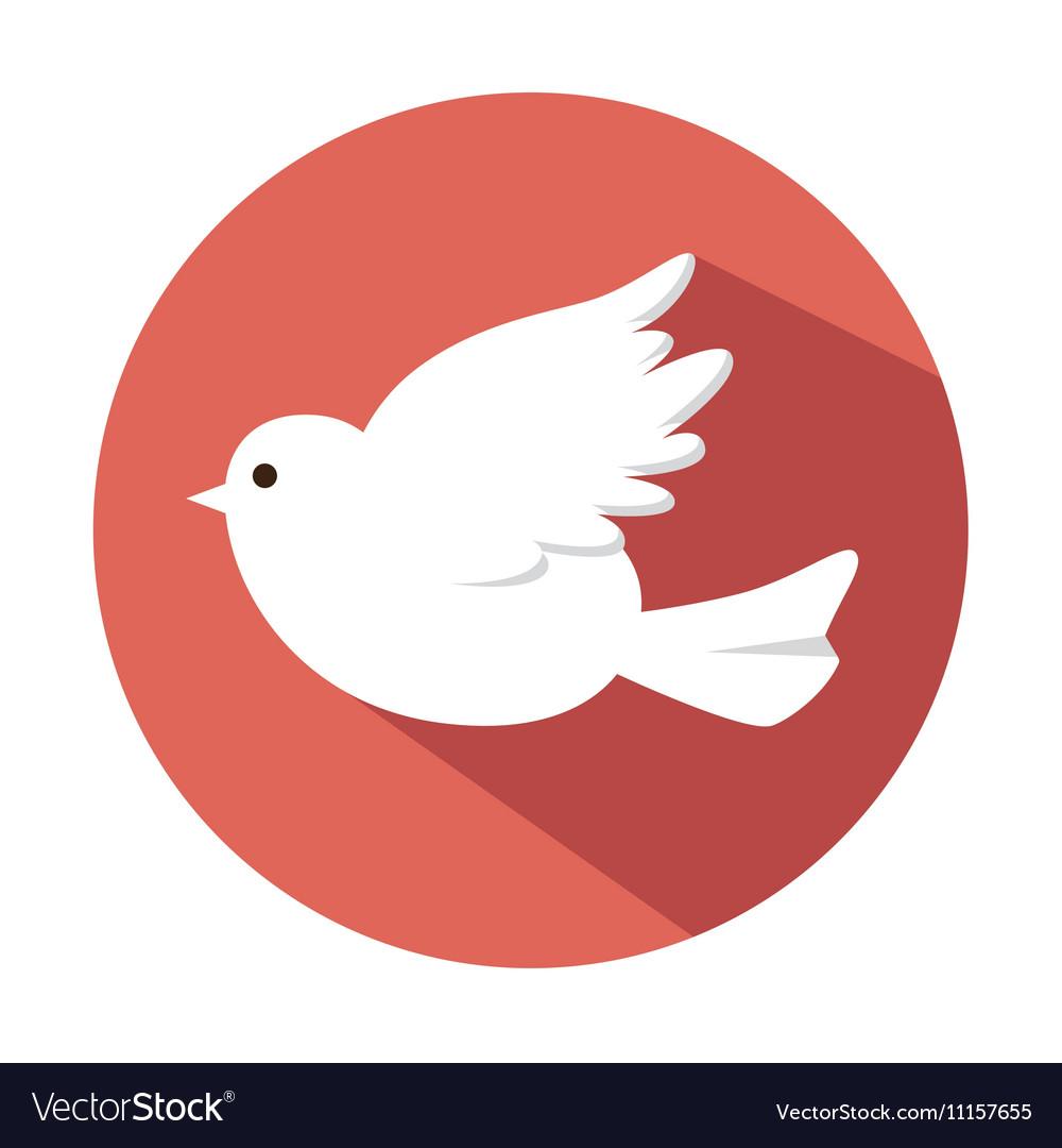 Bird white wedding vector image