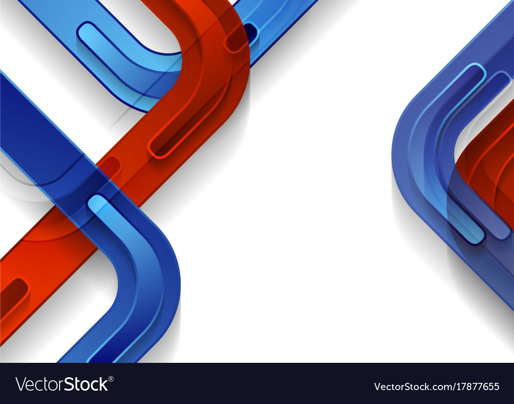 Blue And Red Abstract Geometric Tech Background