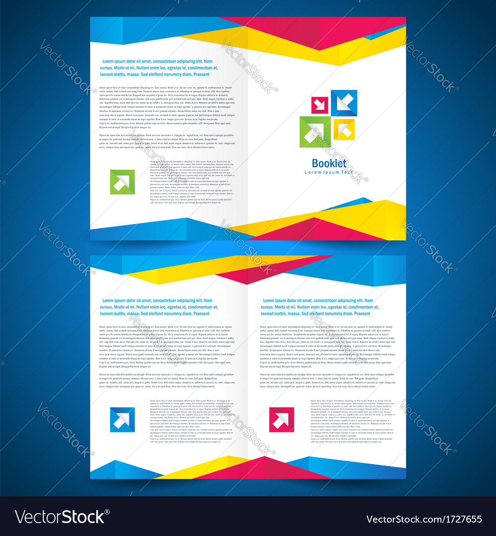 booklet catalog brochure folder origami geometric vector image