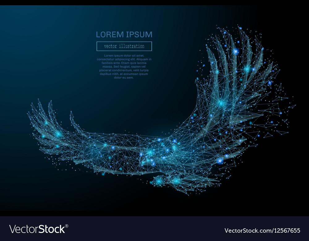 Eagle in flight blue
