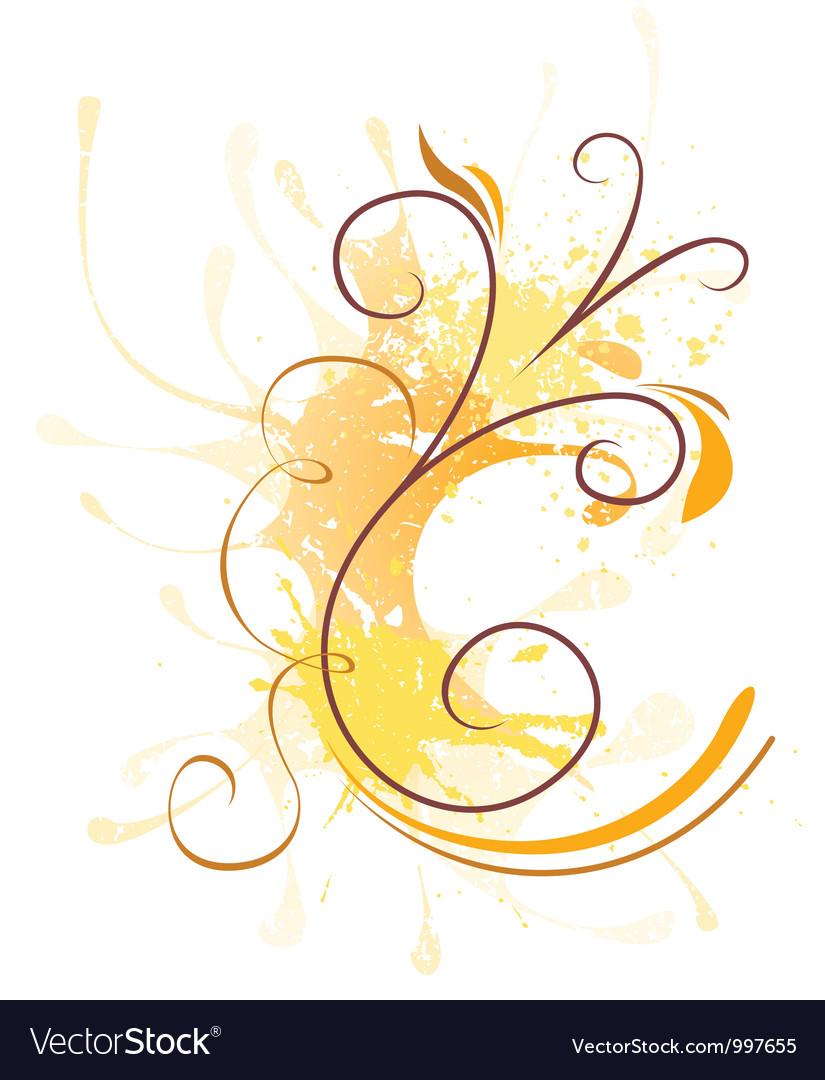 Floral Splash vector image