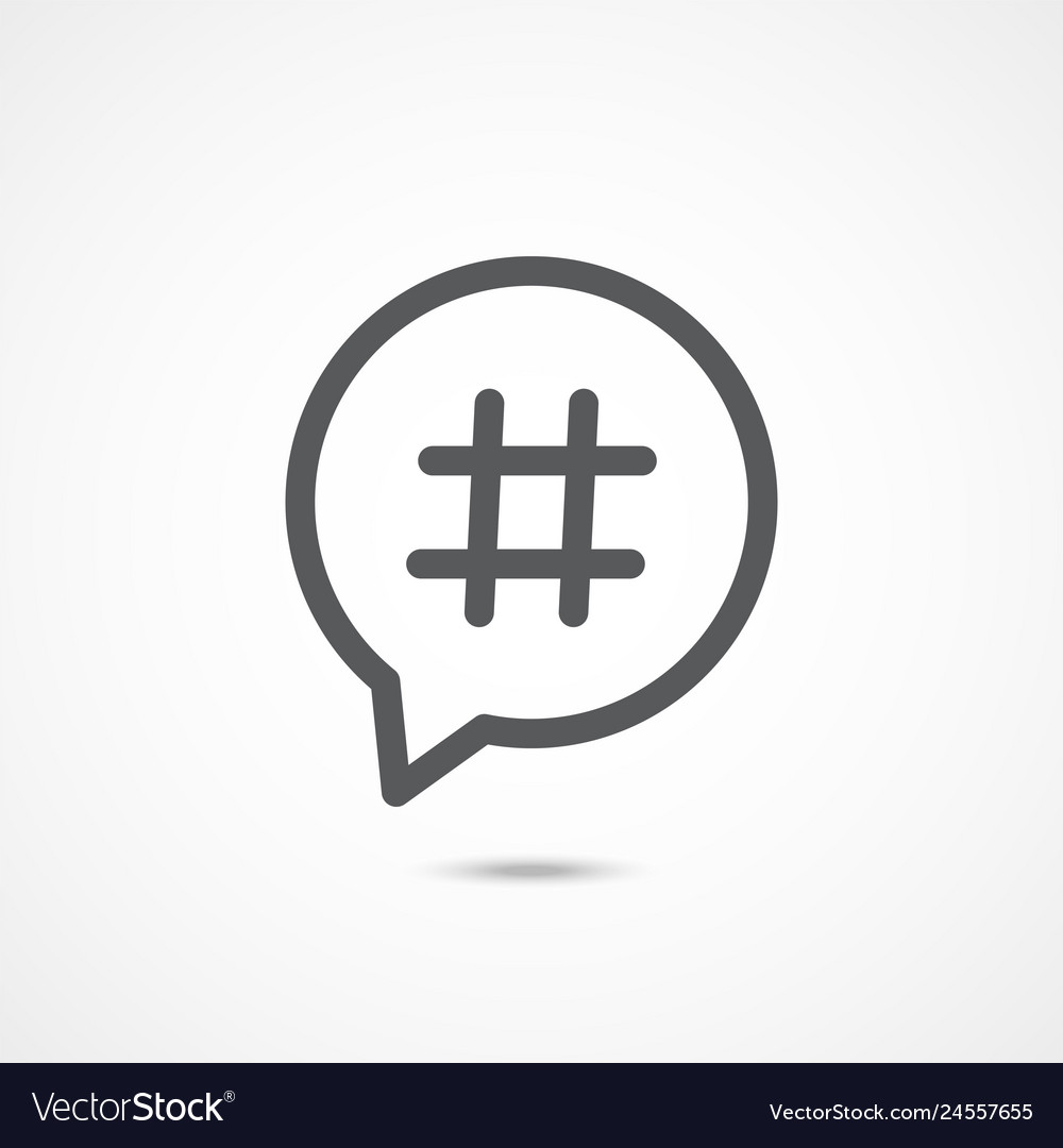 Hashtag line icon