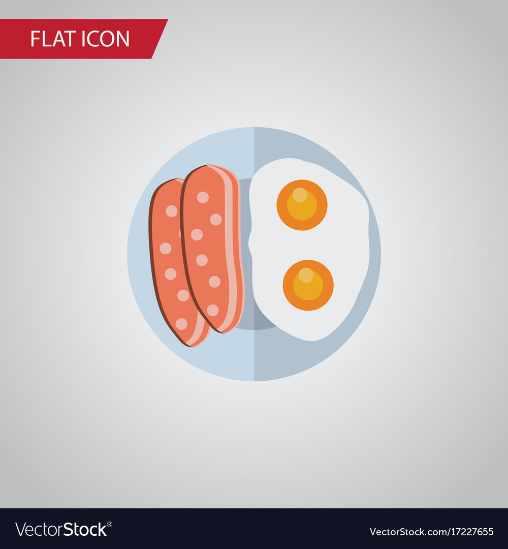 Isolated breakfast flat icon fried egg