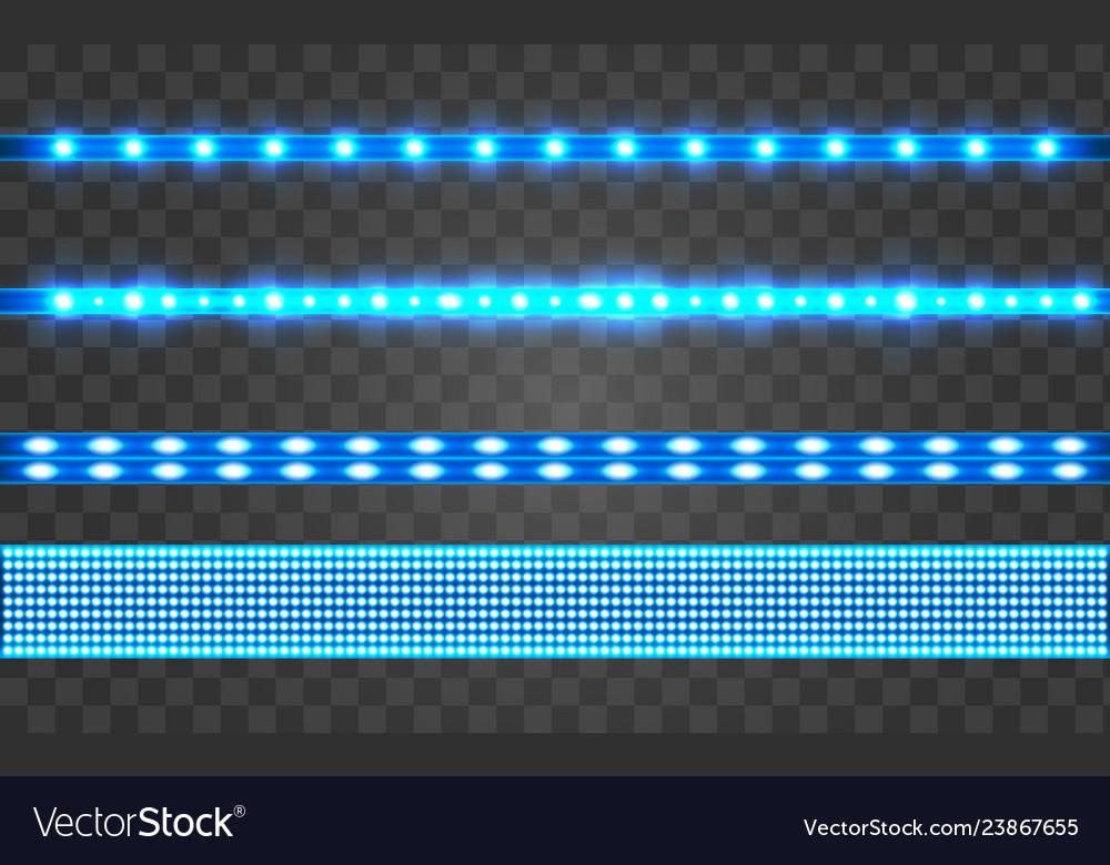 Led realistic blue ribbon