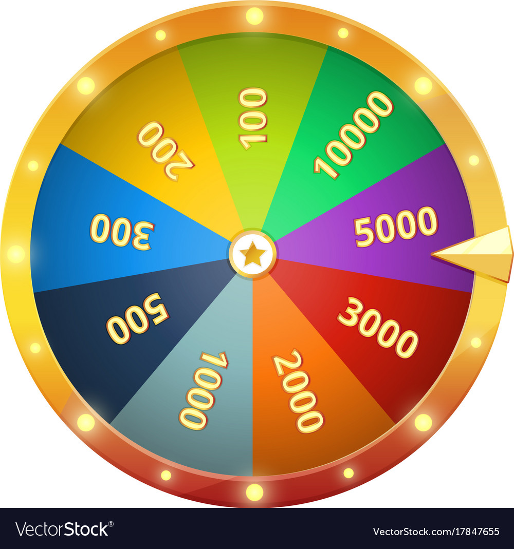 spinning wheel with prizes game roulette vector image. Black Bedroom Furniture Sets. Home Design Ideas