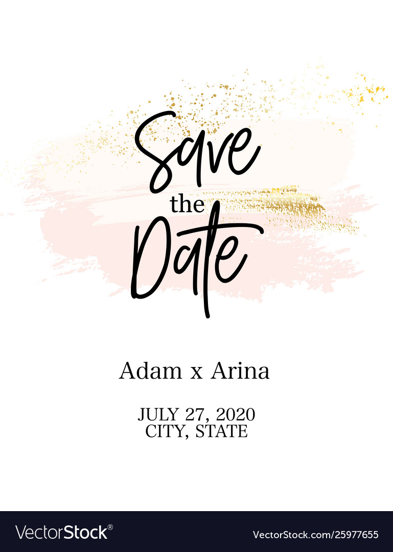 Tender rose pink save date abstract wedding