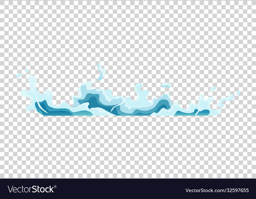 water splash animation shock waves on transparent vector image vectorstock