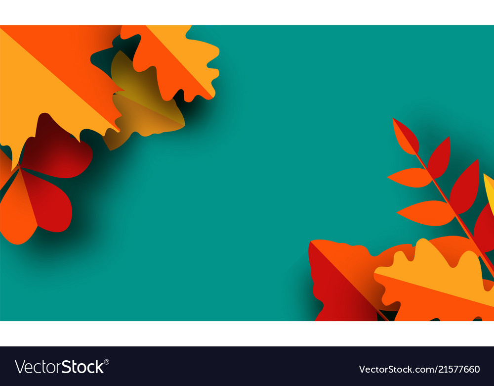 autumn greeting card template fall royalty free vector image