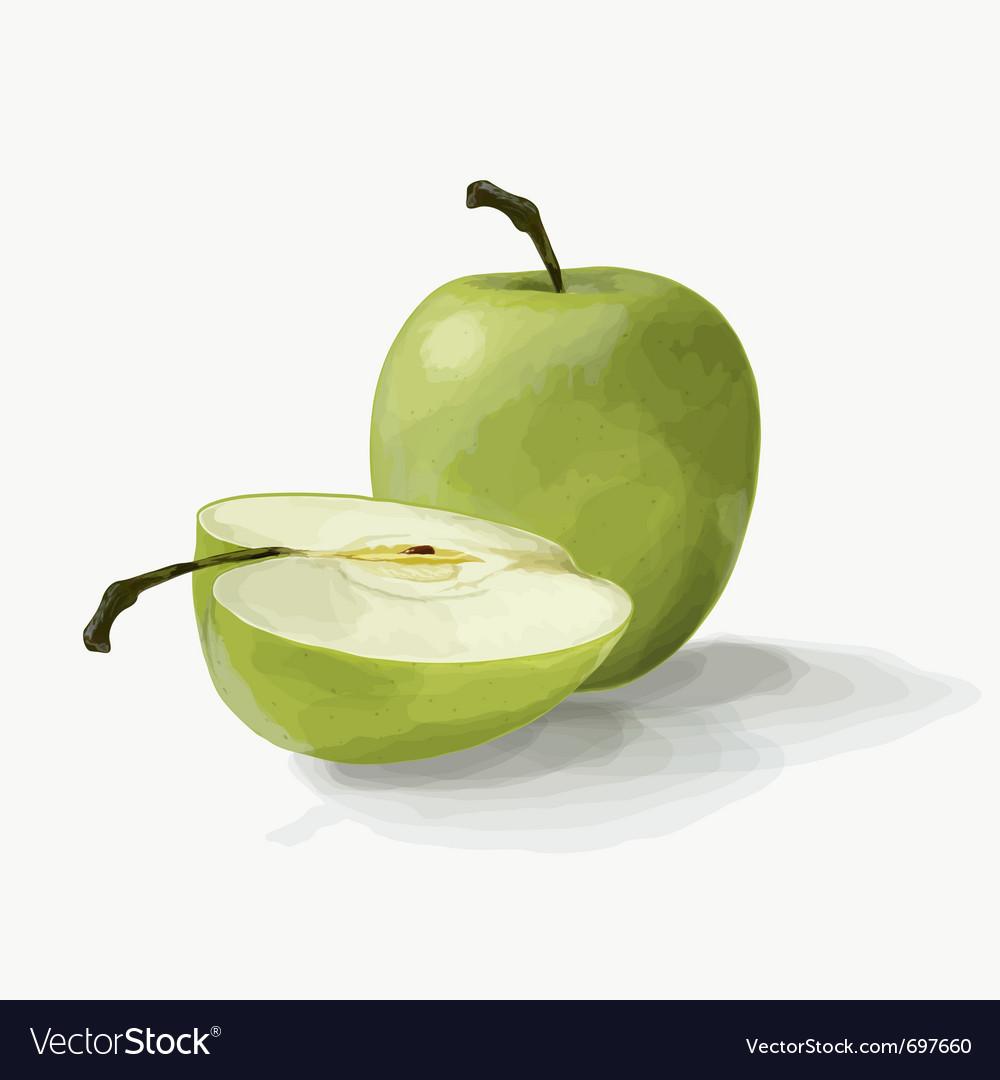 Beautiful green apples