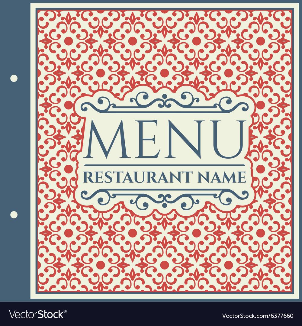 Elegant Restaurant Menu Design Royalty Free Vector Image