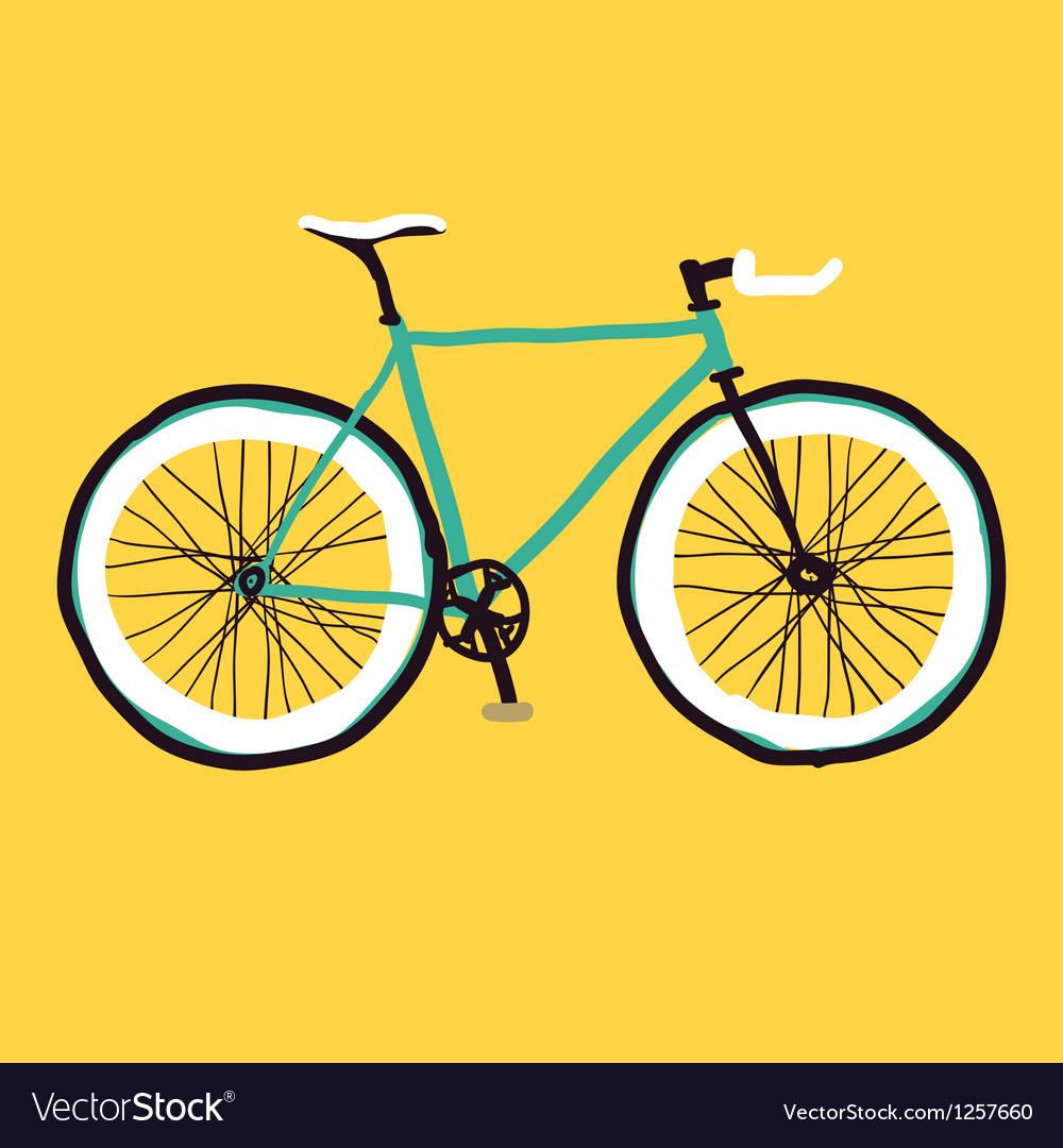 Hand drawn bicycle vector image