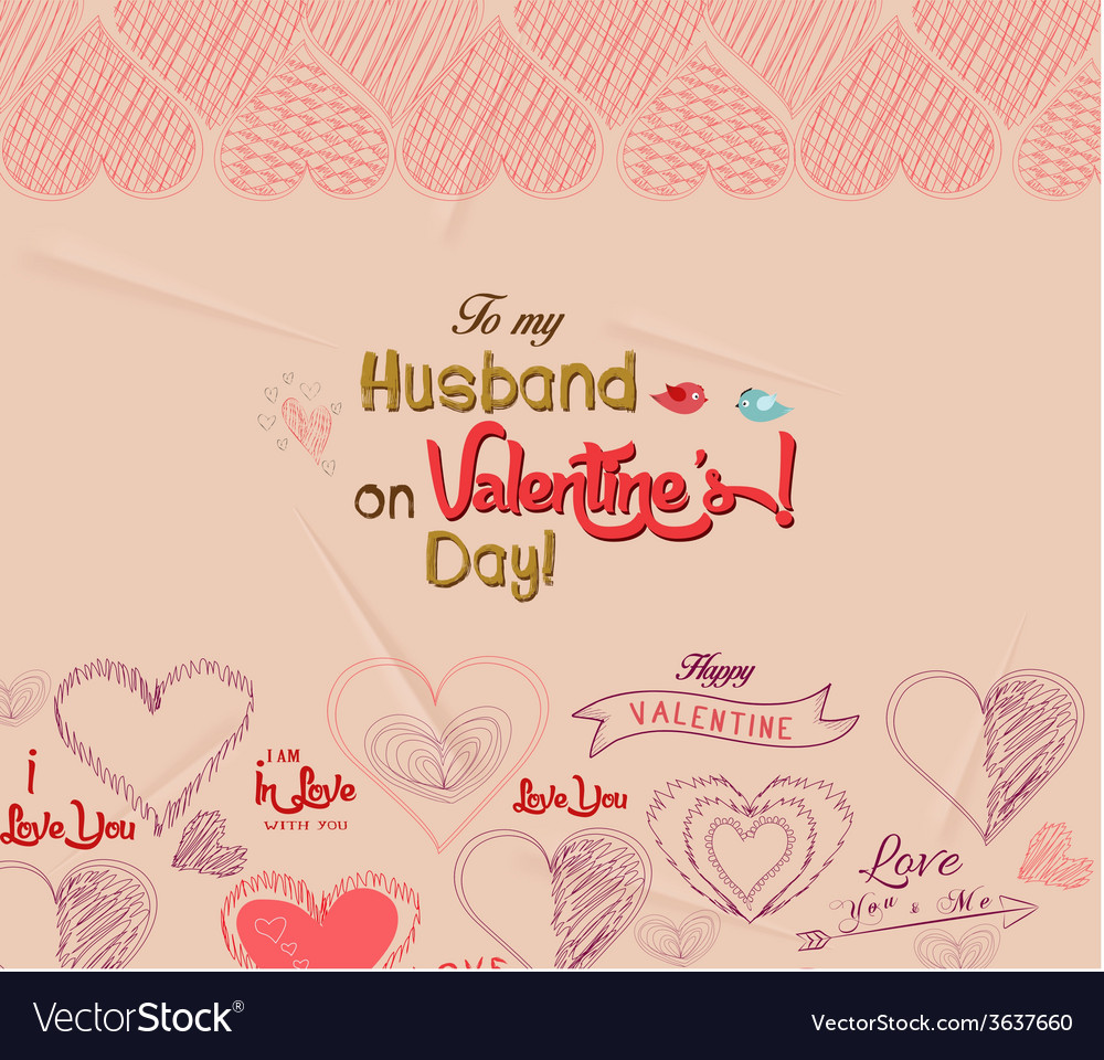 Happy Valentines Day Greeting Card 4 Royalty Free Vector