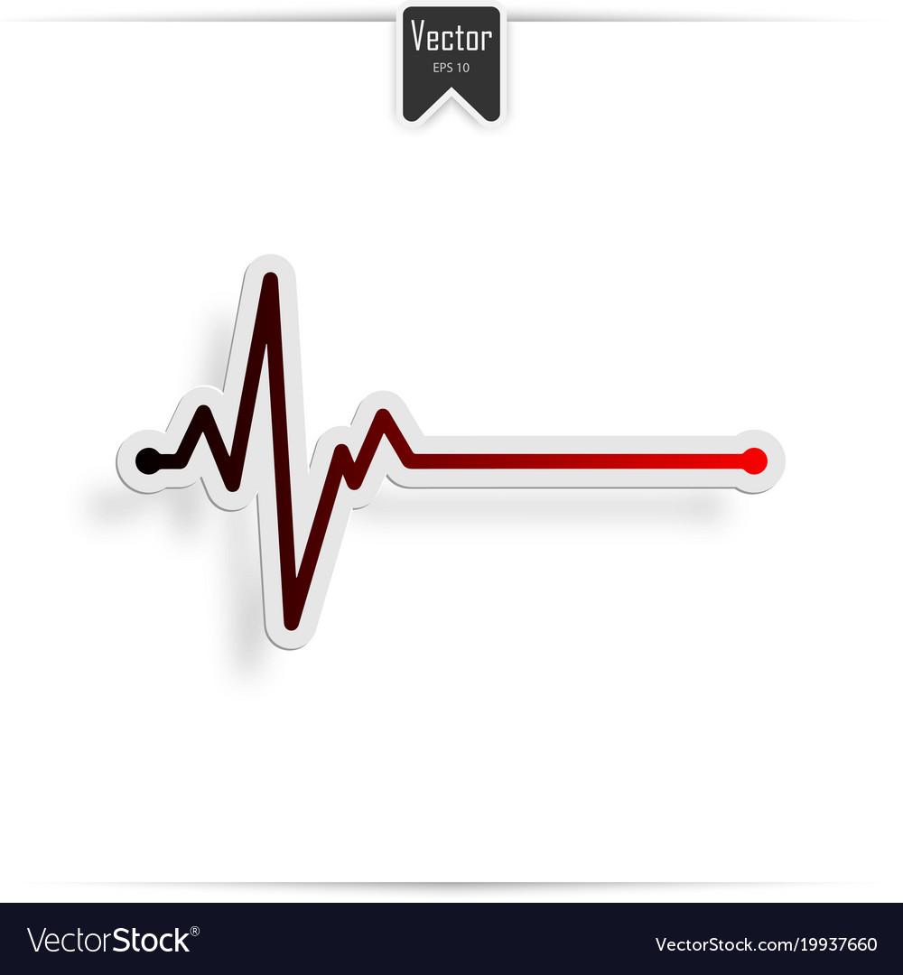 Heart beat line ekg death