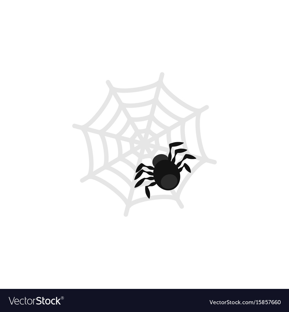 Isolated spider flat icon spinner element