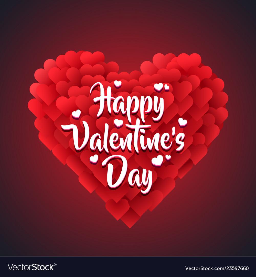 Red valentine heart isolated on dark background