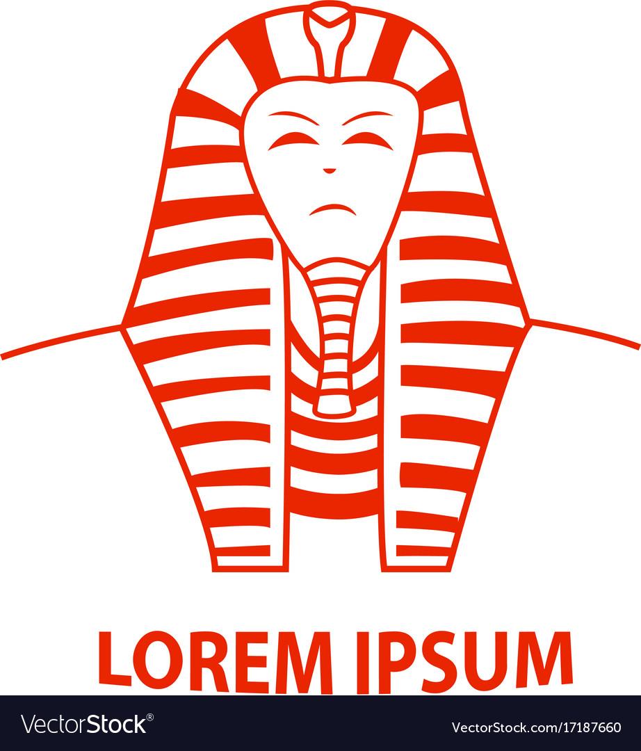 Sphinx and egypt pharaoh logo