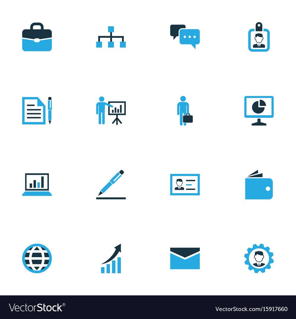 Trade colorful icons set collection of