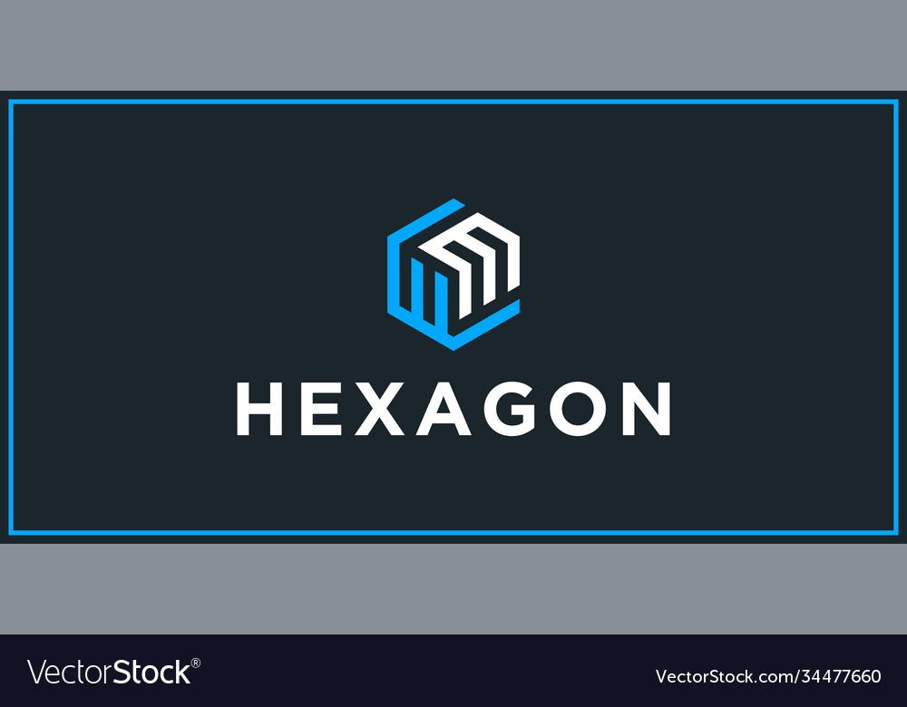 Wm hexagon logo design inspiration