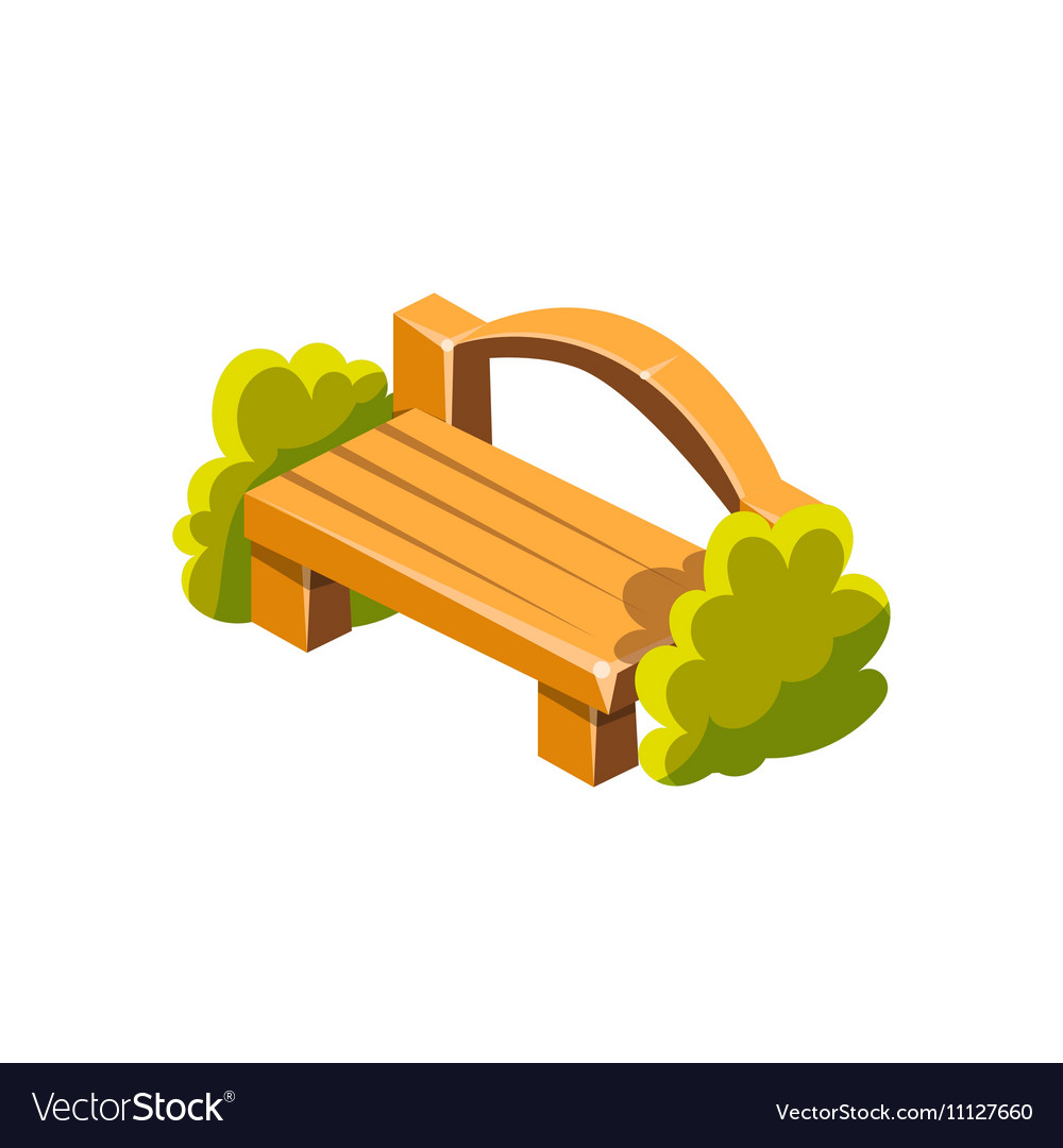 Fabulous Wooden Bench With Back Isometric Garden Machost Co Dining Chair Design Ideas Machostcouk