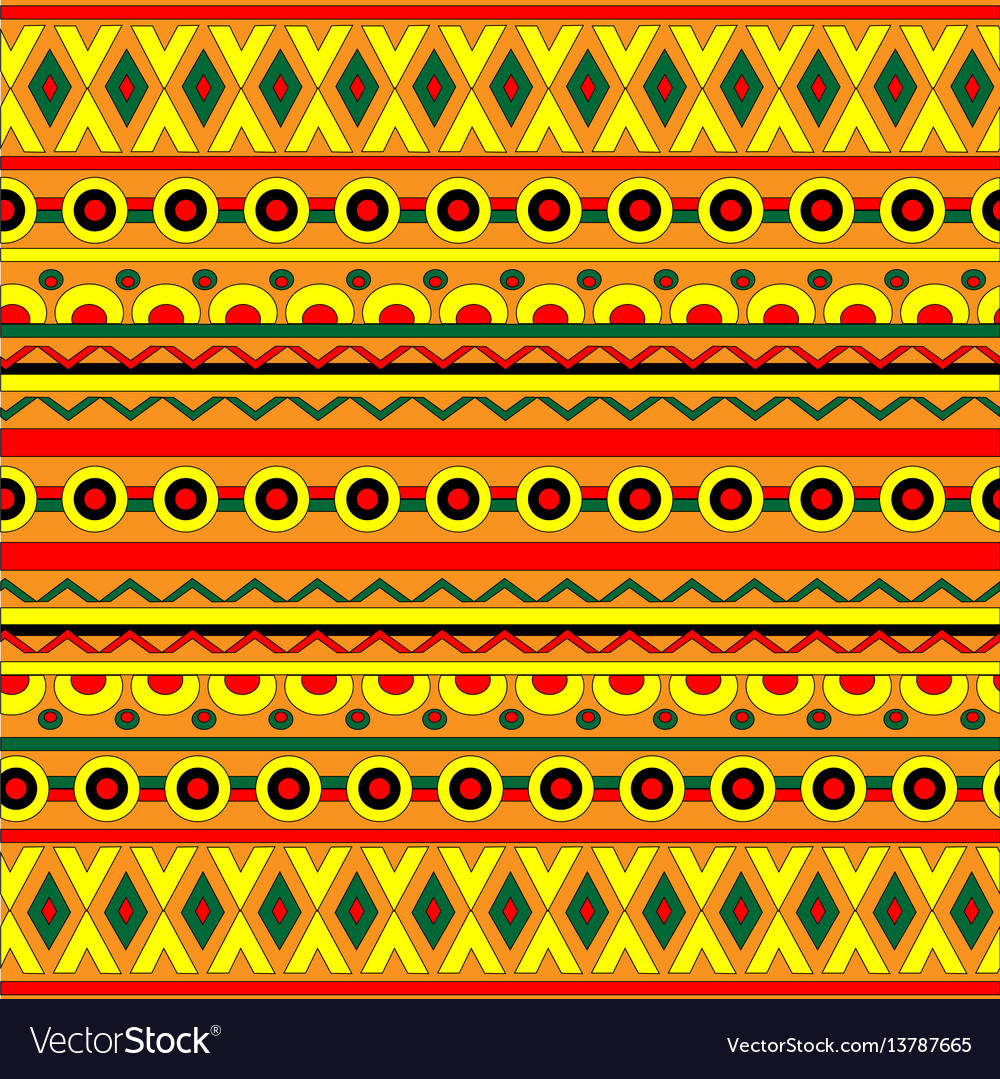 Abstract geometric background with ethnic ornament